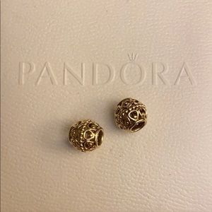 STUNNING AUTHENTIC PANDORA 14k GUILDED CAGE